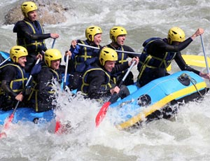 Rafting Méribel sport hiver méribel