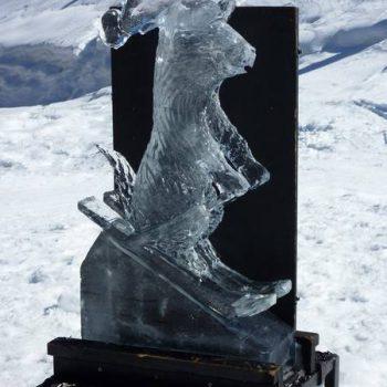 sculpture sur glace méribel