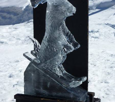 sculpture sur glace méribel