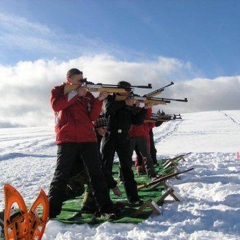 initiation biathlon méribel